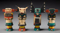 American Indian Art:Kachina Dolls, Four Hopi Kachina Dolls. ... (Total: 4 Items)