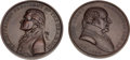 Political:Tokens & Medals, John Adams and Thomas Jefferson: U. S. Mint Indian Peace Medals.... (Total: 2 Items)