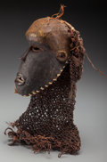 Tribal Art, CHOKWE, Democratic Republic of Congo, Angola. Unusual Mask...
