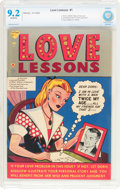 Golden Age (1938-1955):Romance, Love Lessons #1 (Harvey, 1949) CBCS NM- 9.2 Off-white pages....