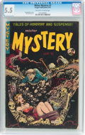 Golden Age (1938-1955):Horror, Mister Mystery #7 (Aragon, 1952) CGC FN- 5.5 Off-white to whitepages....