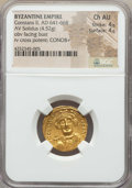 Ancients:Byzantine, Ancients: Constans II (AD 641-668). AV solidus (4.52 gm). NGCChoice AU 4/5 - 4/5....