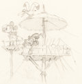 Animation Art:Production Drawing, Mickey's Man Friday Publicity Drawing (Walt Disney,1935)....