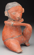 Pre-Columbian:Ceramics, A Chinesco Seated Figure . 100 BC - 250 AD...