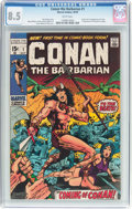 Bronze Age (1970-1979):Adventure, Conan the Barbarian #1 (Marvel, 1970) CGC VF+ 8.5 White pages....