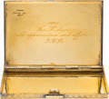 Political:Presidential Relics, Jacqueline Kennedy: Gifted Gold Vermeil Cigarette Case....