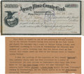 Western Expansion:Cowboy, Tombstone/Gunfight at the O.K. Corral: W. R. McLaury Bank DepositSlip....