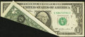 Error Notes:Foldovers, Fr. 1909-G $1 1977 Federal Reserve Note. Very Fine.. ...