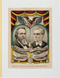 Political:Small Paper (pre-1896), Hayes & Wheeler: A Superb 1876 Grand National Banner....