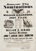 Political:Posters & Broadsides (pre-1896), William Henry Harrison: A Monumental, Large 1840 Campaign Poster....