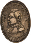 Political:Ribbons & Badges, George McClellan: Silvered Brass Shell Brooch....