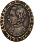 Political:Tokens & Medals, George McClellan: Rare, Very Well-made Gold & Silver Badge....