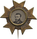 Political:Ferrotypes / Photo Badges (pre-1896), Ulysses S. Grant: An Uncommon Ferrotype Pin....
