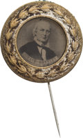 Political:Ferrotypes / Photo Badges (pre-1896), Horace Greeley: Choice 1872 Campaign Ferro....