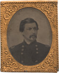 Political:Ferrotypes / Photo Badges (pre-1896), George McClellan: A Choice Large Tintype Badge....