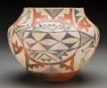 American Indian Art:Pottery, An Acoma Polychrome Jar. c. 1910...