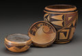 American Indian Art:Pottery, Three Hopi Polychrome Pottery Items... (Total: 3 Items)