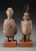 Tribal Art, YAKA, Democratic Republic of Congo . Two Fetish Figures... (Total:2 Items)