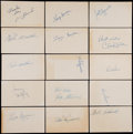 Baseball Cards:Lots, Baseball Greats Signed Index Cards, etc. Lot of 300+. ...