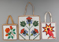 American Indian Art:Beadwork and Quillwork, Three Plateau Pictorial Beaded Hide Flat Bags. ... (Total: 3 Items)