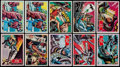 Non-Sport Cards:Sets, 1966 Topps Batman Black Bat, Blue Bat-Logo, Blue Bat-Puzzle and RedBat Near Sets (4). ...