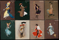 Non-Sport Cards:Lots, 1902-03 Anargyros/Turkish Trophies Hamilton King Girls Collection(17). ...