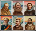 """Non-Sport Cards:Sets, 1910 T118 Hassan """"World's Greatest Explorers"""" Complete Set (25)...."""