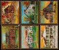 "Non-Sport Cards:Sets, 1911 T69 Helmar ""Historic Homes"" Complete Set (49/50). ..."