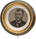 Political:Ferrotypes / Photo Badges (pre-1896), Ulysses S. Grant: Recessed Ferrotype Badge....