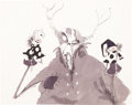 Animation Art:Concept Art, Tim Burton The Black Cauldron Horned King Animation Drawing(Walt Disney, 1985)....