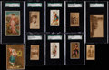 Non-Sport Cards:Lots, 1880's-1890's Tobacco Card Mini-Type Card Collection (12). ...