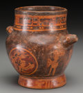 Pre-Columbian:Ceramics, A Maya Vase with Chieftain Emblems. c. 600 - 900 AD...
