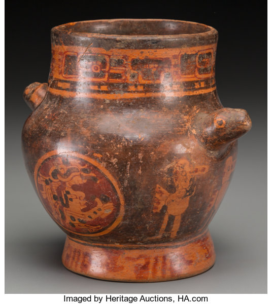 A Maya Vase With Chieftain Emblems C 600 900 Ad Lot 70260