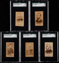 Non-Sport Cards:Lots, Scarce 1887 N174 Old Judge Celebrities & Prizefighters (5). ...
