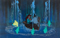 Animation Art:Production Cel, The Little Mermaid Ariel, Prince Eric, and FlounderProduction Cel Setup (Walt Disney, 1989)....
