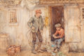 Works on Paper, Henry Scott Tuke (British, 1858-1929). The cook's galley, 1910. Watercolor on paper laid on board. 12 x 18 inches (30.5 ...