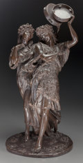 Fine Art - Sculpture, European:Antique (Pre 1900), Thomas Nelson Maclean (British, 1845-1894). Spring Festival,1881. Bronze with brown patina. Height: 27 1/2 inches (69.9...