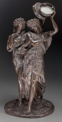 Thomas Nelson Maclean (British, 1845-1894) Spring Festival, 1881 Bronze with brown patina Height:
