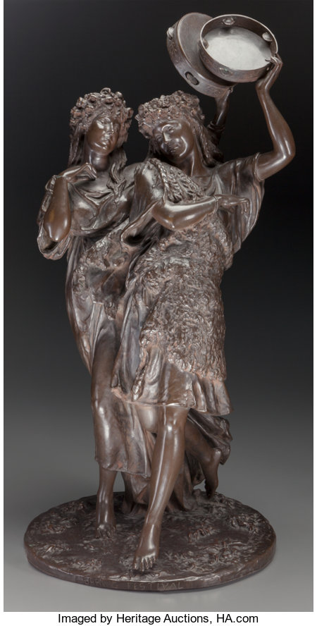 Thomas Nelson Maclean (British, 1845-1894)Spring Festival, 1881Bronze with brown patinaHeight: 27 1/2 inches (69.9...