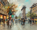 Paintings, Antoine Blanchard (French, 1910-1988). Porte Saint Denis. Oil on canvas. 18 x 22 inches (45.7 x 55.9 cm). Signed lower l... (Total: 2 Items)