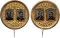 Political:Ferrotypes / Photo Badges (pre-1896), Grant & Colfax and Seymour & Blair: A Superb Matched Pairof Large-size 1868 Ferrotype Jugates....