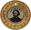 Political:Ferrotypes / Photo Badges (pre-1896), Frémont & Cochran: Back-to-Back Ferrotype....