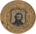 Political:Ferrotypes / Photo Badges (pre-1896), Ulysses S. Grant: Great Slogan Ferrotype....