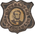 Political:Ferrotypes / Photo Badges (pre-1896), Abraham Lincoln: Republican Invincibles Badge....