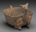 American Indian Art:Pottery, A Mississippian Deer Effigy Bowl. c. 1000 - 1400 AD...