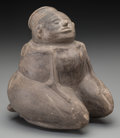 American Indian Art:Pottery, A Mississippian Seated Pottery Female . c. 1000 - 1400 AD...