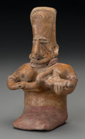 Pre-Columbian:Ceramics, A Jalisco Mother with Nursing Infant. c. 200 BC - 200 AD...