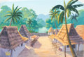 Animation Art:Painted cel background, Jungle Book Two Painted Background (Walt Disney, 1993)....
