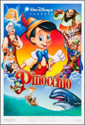 """Movie Posters:Animation, Pinocchio (Buena Vista, R-1992). One Sheets (2) (27"""" X 40"""") DS Advance & Regular. Animation.. ... (Total: 2 Items)"""