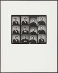 """Movie Posters:Miscellaneous, James Dean by Roy Schatt (Warner Brothers, 1954). Photographer'sProof on Board (Photo: 8"""" X 10"""", Board: 16"""" X 20""""). Miscell..."""